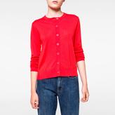 Paul Smith Women's Red Merino Wool Cardigan