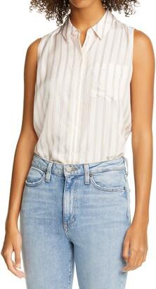 Nordstrom Signature Sleeveless Button-Up Shirt