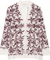 Tory Burch Printed silk-georgette top