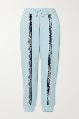 adidas R.y.v. Striped Cotton-jersey Track Pants - Light blue