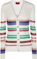 Missoni Striped crochet-knit cardigan