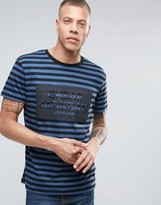 Cheap Monday Standard Stripe T-shirt Logo Navy
