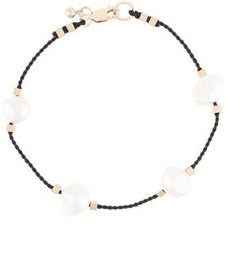 Petite Grand Pearl Embellished Cord Bracelet