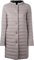 Herno padded single breasted coat - women - Feather Down/Polyamide/Polyurethane - 44