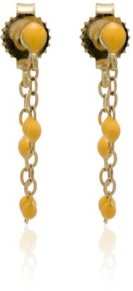 Gigi Clozeau yellow gold YG bead earrings