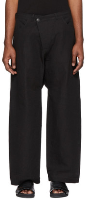 Jan-Jan Van Essche Black Bamboo Cloth Trousers