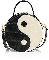 STAUD Women's Yin Yang Croc-Embossed Leather Crossbody Bag