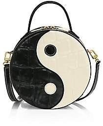 STAUD Women's Ying Yang Croc-Embossed Leather Crossbody Bag