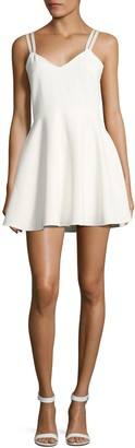 French Connection Crossback Fit-&-Flare Dress