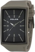 Police Men's PL.13077MPGYU/02 Grey Silicone Quartz Watch with Dial