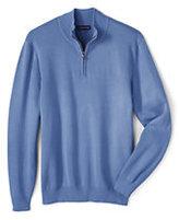 Classic Men's Big Performance Half-zip Mock Sweater-True Navy