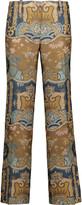 Etro Cropped jacquard straight-leg pants