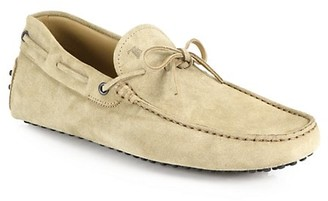 Tod's Suede Tie Drivers