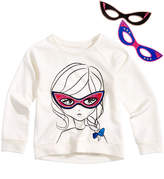 Epic Threads Hero Kids by Super Girl-Graphic Sweatshirt with Interchangeable Masks, Little Girls (4-6X), Created for Macy's