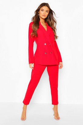 boohoo Double Breasted Blazer & Pants Suit Set