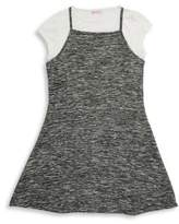 Design History Girl's Two-Piece Knitted Tee & Dress Set