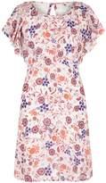 Yumi Swirled Floral Crinkled Dress