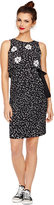 Taylor Maternity Printed Popover Side-Tie Dress