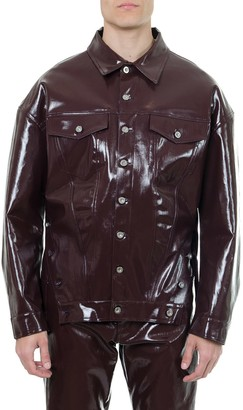 Diesel Burgundy Denim Vinyl Jacket