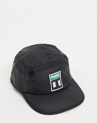 Puma x The Hundreds packable logo cap in black
