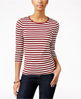 Charter Club Petite Striped Top, Only at Macy's