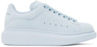 Alexander McQueen Blue Suede Oversized Sneakers