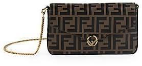 Fendi Women's Mini Leather Wallet-On-Chain