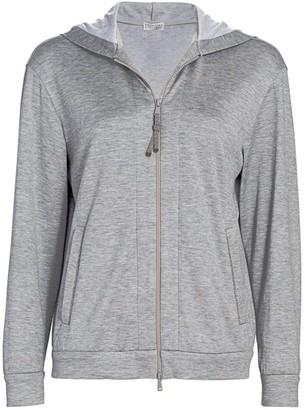 Brunello Cucinelli Silk-Blend Jersey Track Jacket