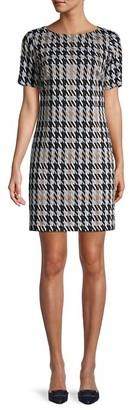Tommy Hilfiger Short-Sleeve Houndstooth Sheath Dress