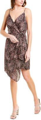 BCBGMAXAZRIA Printed Wrap Dress