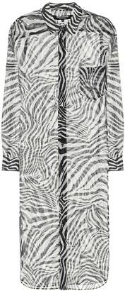 Junya Watanabe Zebra-print midi dress