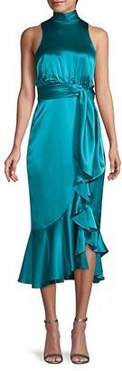 Cinq à Sept Ruffled Turtleneck Dress