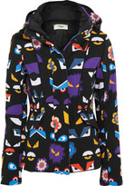 Fendi Printed Padded Ski Jacket - Black