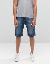 Bellfield Denim Shorts in Stone Wash
