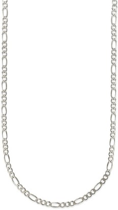 Pori Jewelers 925 Sterling Silver High Polished 1.9MM Figaro 050 Chain necklace