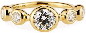 Ippolita Large Stardust 5-Stone Ring in 18K Gold w/ Diamonds, Size 7