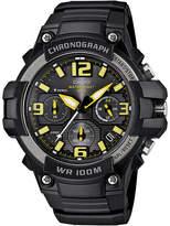 Casio Mens Black Resin Strap Chronograph Sport Watch MCW100H-9AVCF