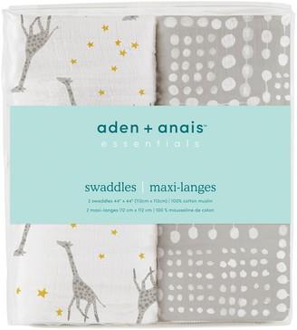 Aden Anais Baby aden + anais Muslin Swaddles (Giraffe & Stars + Polka Print)