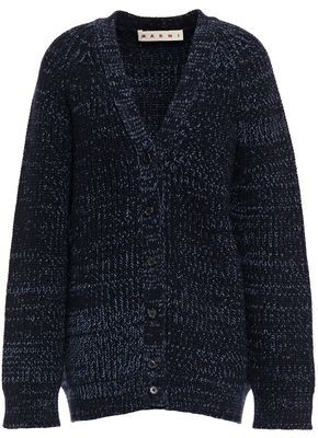 Marni Melange Ribbed-wool Cardigan