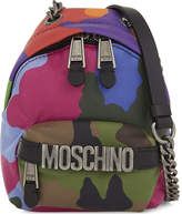 Moschino Camouflage leather mini backpack cross-body bag