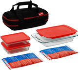 Pyrex Portables 9-pc. Double-Decker Set