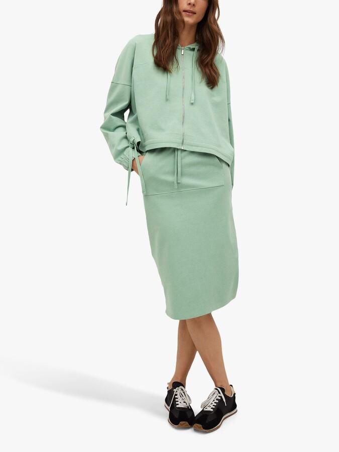 Thumbnail for your product : MANGO Cotton Drawstring Midi Skirt