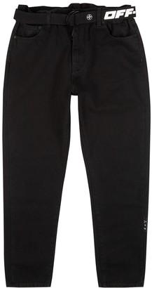 Off-White Black tapered-leg jeans