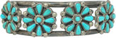 One Kings Lane Vintage Zuni Turquoise Floral Cuff
