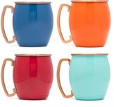 Fiesta Copper and Multicolor Moscow Mule Mugs (Set of 4)