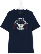 Ralph Lauren logo print T-shirt - kids - Cotton - 16 yrs