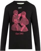 Off-White Tour 1993 cotton-jersey long-sleeved T-shirt