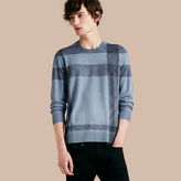 Burberry Abstract Check Merino Wool Sweater