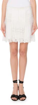 Isabel Marant Ramie Eyelet Mini Skirt