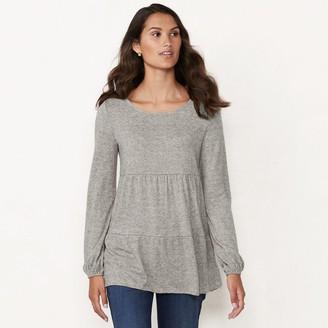 Lauren Conrad Women's Tiered Shirring Tunic